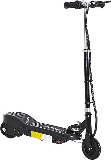 homcom Monopattino Elettrico per Bambini Pieghevole 120W velocità Max 12km/h Portata 50kg 74x36x73-91cm Nero
