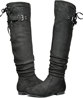 577337a8e69 DREAM PAIRS Women s Fashion Casual Over The Knee Pull On Slouchy Boots