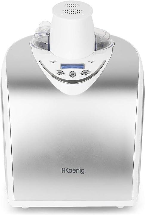 macchina per gelati e sorbetti, gelatiera, 1l, programmabile, gelato pronto in 40min- 135 w h.koenig hf180 80115