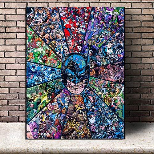 Y-fodoro Marvel Jigsaw Puzzles Puzzle, Comics Adultes Heros Batman 1000 pièces Puzzles en Bois, Enfants Maison garçon Fille Amis Jouet Cadeau