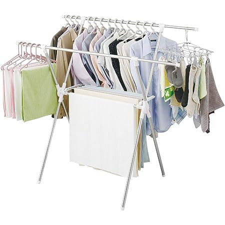 アイリスオーヤマ 洗濯物干し 室内物干し タオルハンガー付き 布団も干せる 軽量 約5人用 幅約92~162×奥行約64×高さ約127.5cm CMB-92XR