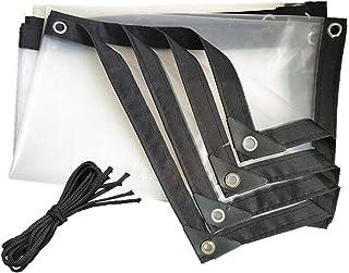 SACYSAC Transparente a Prueba de Agua e Impermeable de Tela, Espesado Ribete Perforado a Prueba de Viento de Aislamiento T...