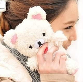 Fusicase for iPhone 11 Pro Max Furry Plush Case Fur Hair Cute 3D Teddy Bear Style Lovely Doll Toy Cool Protective Cover Fuzzy Fluffy Fashion Luxury Winter Warm Case for iPhone 11 Pro Max White