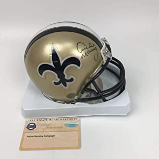 Autographed/Signed Archie Manning New Orleans Saints Football Mini Helmet Steiner Sports COA