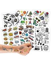 100 Tattoos om op te plakken - kindvriendelijke ontwerpen - als verjaardagscadeau of cadeau-idee - Veganistisch.