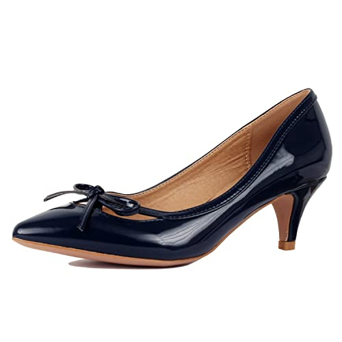 9ac9dc601dd Guilty Shoes Womens Classic - Closed Pointy Toe Low Kitten Heel - Dress  Slip On Pump