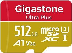 Gigastone Tarjeta de memoria micro SDXC de 512GB con adaptador SD, Clase 10, U3, V30 y A1. Velocidad de lectura/escritura hasta 100/80 MB/s. Para Móvil, Switch y cámaras MIL....