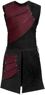 Mens Unisex Mid-Long Renaissance Medieval Victorian Waistcoat Vest Costume Split Stage Suit