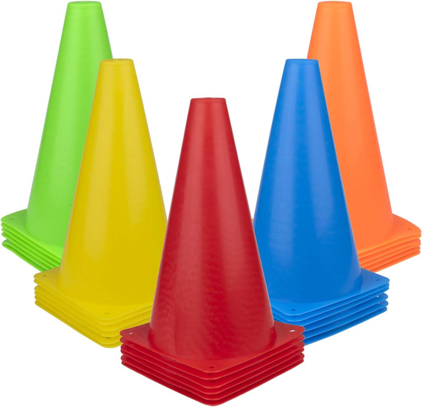 Fasmov Regular discount 30 PCS Training Cones Sport Plastic We OFFer at cheap prices Cone Traffic
