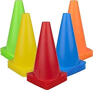 Fasmov 30 PCS Training Cones Plastic Sport Training Traffic Cone for Skate Soccer & Outdoor Activity Agility Marker Cones,...