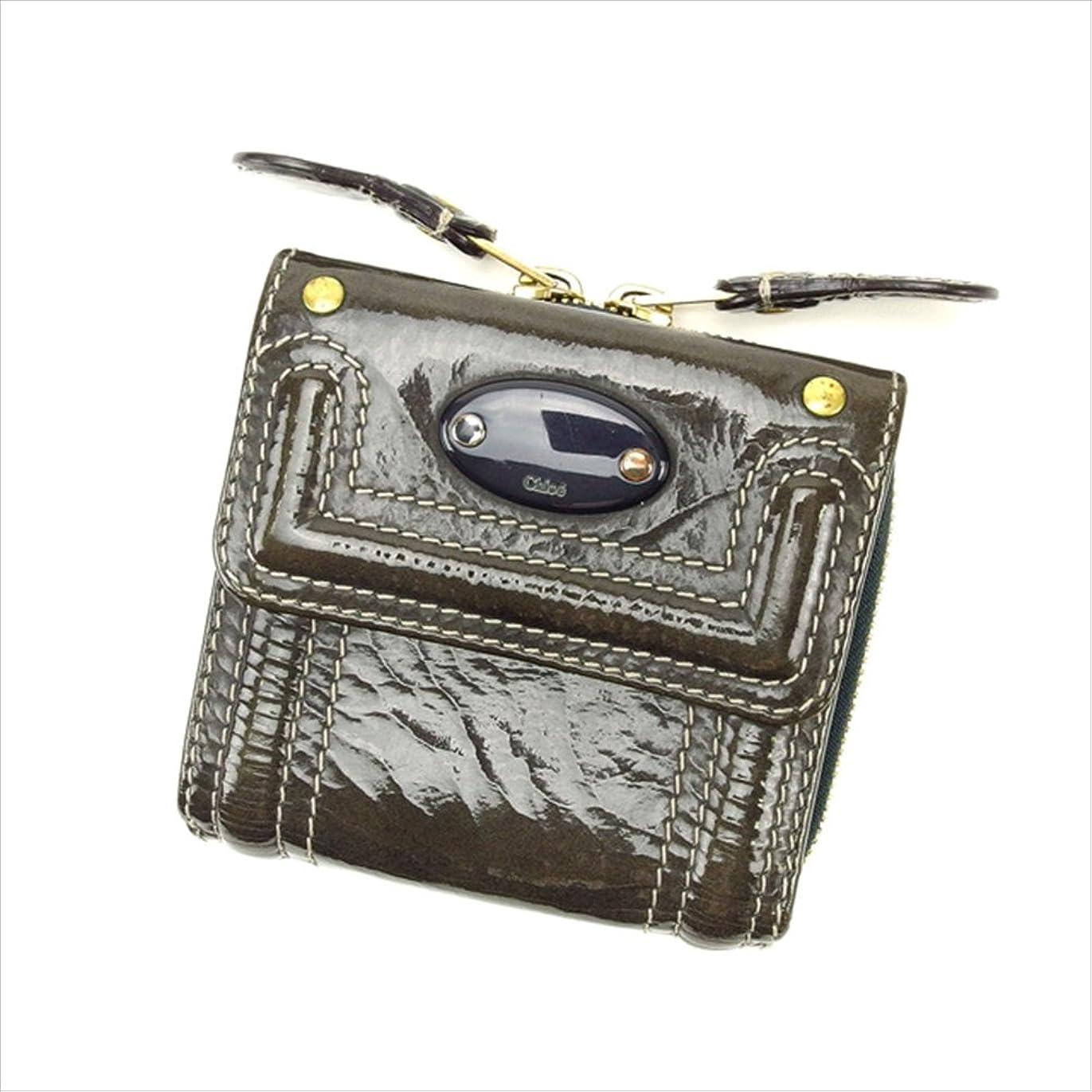 曖昧な真空リフトクロエ Chloe 三つ折り財布 ラウンドファスナー ユニセックス 中古 E758