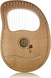 """Flying Melody""""OW""""16-String Wooden Lyre Harp,Mahogany Wood String Instrument with Carry Bag,Tuning Wrench,Cleaning Cloth an..."""