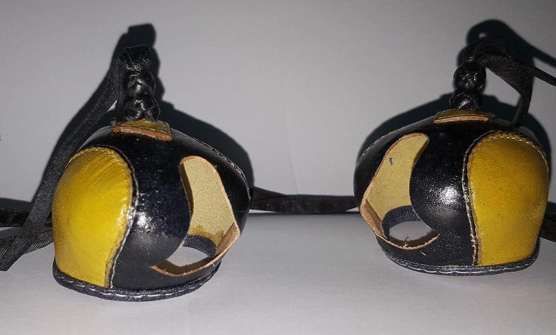 New Falconry Hood Dutch Hand Stitched (Yellow Black)