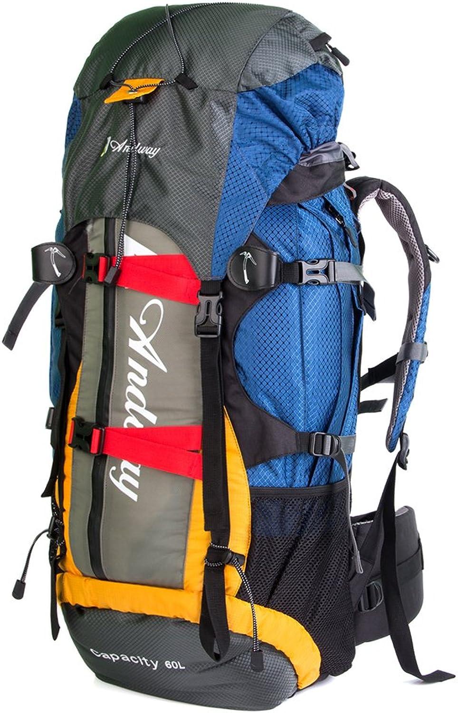 Andway (60Outdoor interne Rahmen Rucksack mit Regen Abdeckung und verstellbaren Trgern