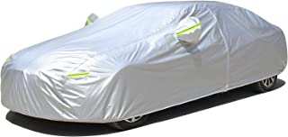 KouKou Car Cover Waterproof All Weather for Automobile, Outdoor Breathable Full Exterior Cover, Sun Rain Dust Protection,w...