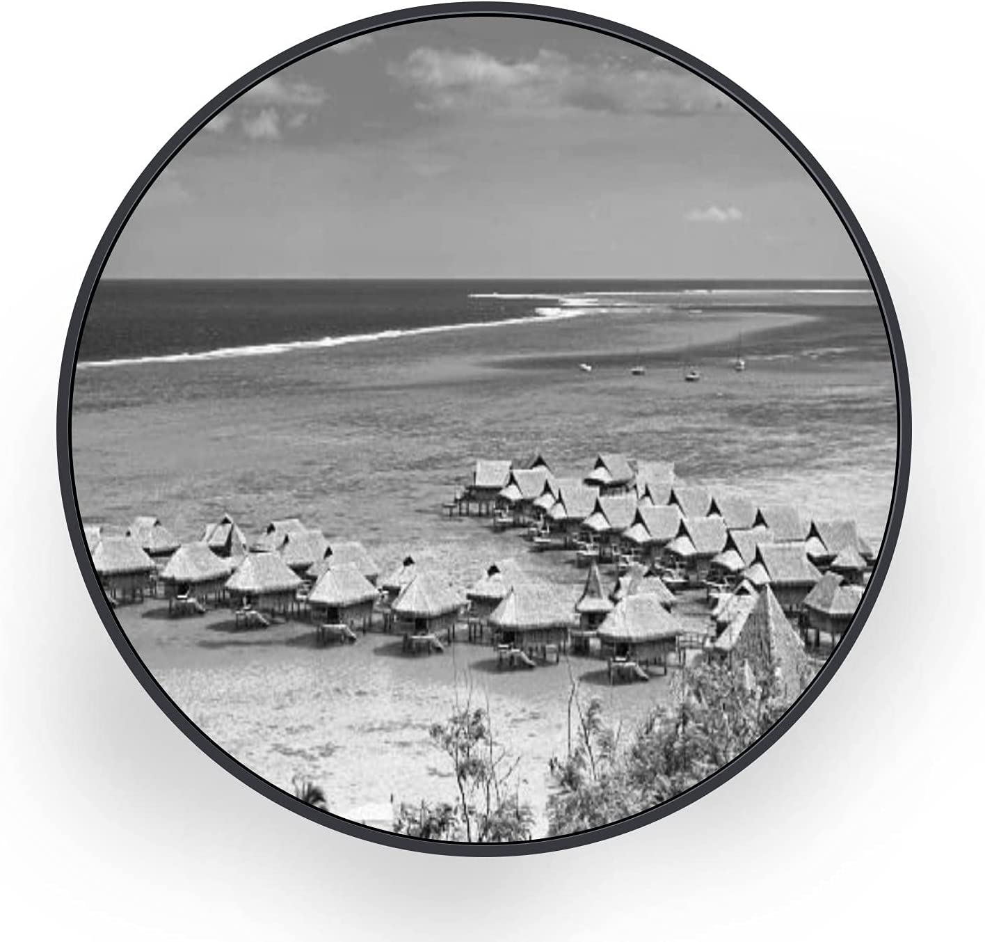 ERFEVBFEH Round Canvas Wall Art High order 2021 new Res Luxury Vacations Hotel Dream
