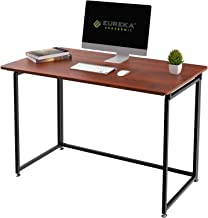 "Eureka Ergonomic 43"" Adjustable Mobile Utility Folding Desk with Four Lockable Wheels - Cherry"