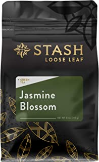 Stash Tea Jasmine Blossom Green Loose Leaf Tea 3.5 Ounce Pouch Loose Leaf Premium Green Tea for Use with Tea Infusers Tea Strainers or Teapots, Drink Hot or Iced, Sweetened or Plain