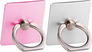 [2 Pack] Cell Phone Ring Holder Stand,CaseHQ Finger Grip Loop Mount 360 Degree Rotation Universal Smartphone Kickstand for iPhone X 8 7 7Plus Samsung Galaxy S9 S9 Plus S7 S8 LG (Pink+Silver+Rosegold)