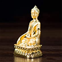 Sakyamuni Statue Tibetan Tantra Buddha Figurine Decoration Aluminum 3Inch Portable Buddhist Fengshui Sculpture Car Home Li...