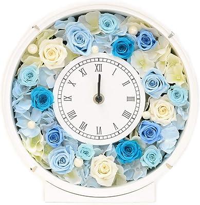 Lulu's ルルズ 花時計 ターコイズブルー プリザーブドフラワー サイズ幅24cm長さ8cm高さ24cm ターコイズブルー Lulu's-1095