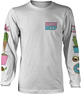 Neck Deep 'in Bloom' (White) Long Sleeve Shirt