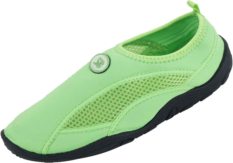 Grey bluee Women's Wave Water shoes Pool Beach Aqua Socks, Yoga, Exercise,6 B(M) US,Green-2909