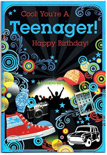 Geburtstagskarte für Teenager, für Jungen zum 13. Geburtstag