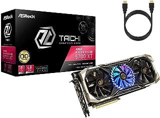 ASRock Radeon RX 5700 XT Taichi トリプルファン OCビデオグラフィックカード 8GB 256-Bit GDDR6 DirectX 12 デュアルBIOS PCI Express 4.0 x 16 2 x HDMI...