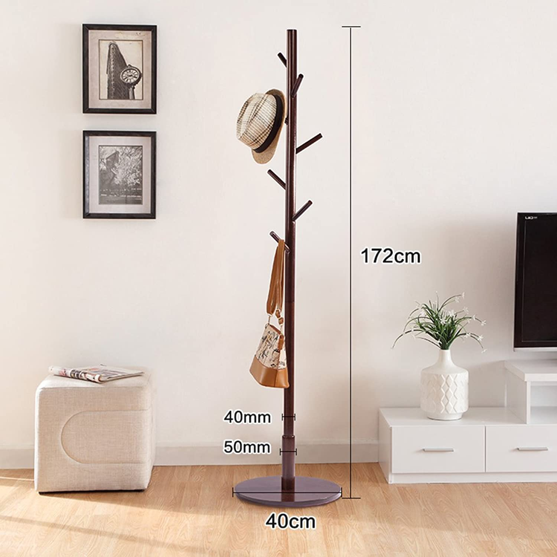 Xiao Mi Guo Ji- Coat Rack - Simple Modern Solid Wood Floor Coat Rack, Home, Living Room, Bedroom Storage Coat Rack Creative Coat Rack (color   C)
