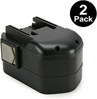 POWERAXIS 2-Pack 14.4v Replacement Battery for Milwaukee 48-11-1000 48-11-1014 48-11-1024 Series Cordless Tool, Milwaukee 14.4 volt Battery