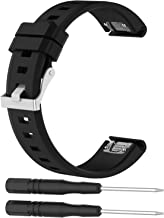 iRECOO-Garmin Fenix 5 Quick Fit 22mm Replacement Band,Silicone Smart Watch Replacement Band for Garmin Fenix 5 / Forerunner 935 (Black)