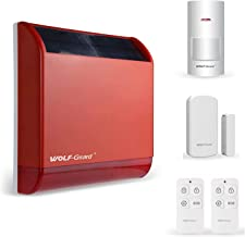 Wolf-Guard draadloze zonne sirene alarm 110 dB ingebouwde batterij metalen harde shell home security sabotage alarm