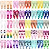 Haarspangen Mädchen, Funtopia 80 Stück 3cm Metall Haarclips Keine Slip Haarspange Cute Clips für Baby Mädchen Damen