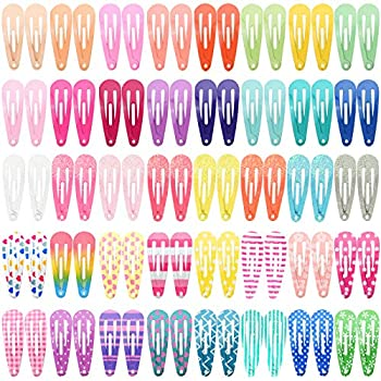 Toddler Hair Clips Funtopia 80 Pcs  1.2 Inch 3cm  Cute Mini Snap Hair Clips for Baby Girls Kids Colorful Small Snap Barrettes Metal Hair Clips for Fine Hair