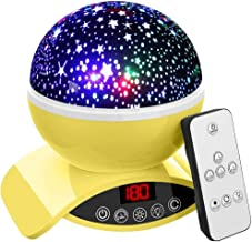 Foreita Night Light Baby Star Projector, 8 Color Rechargable Remote Control Star Light Rotating Projector with Dimmable Co...