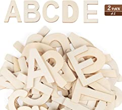 "4"" Wooden Letters - 52 Pcs Wood Letters for Crafts Unfinished Wood Letters for Wall Decor/Letter Board/DIY/Painted/Educati..."