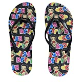 Betty Boop Womens Flip Flop Sandal Thong (Betty Name - 8, Size 10)