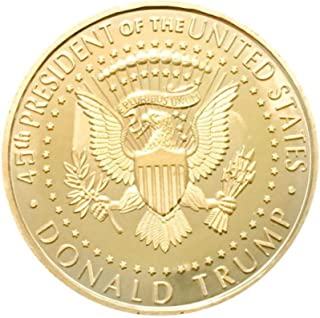 President Donald Trump Commemorative Coin 2018, Gold Plated Eagle Collection Patriot Gift