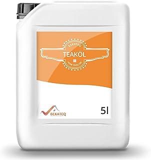 BEKATEQ Teaköl farblos 5l innen und aussen für Gartenmöbel, Esstisch, Terrasse, BE-205 Holzöl - lösemittelfrei, wetterfest