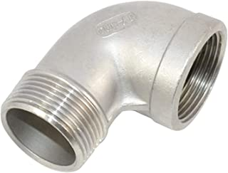 CHENTAOMAYAN 304 Stainless Steel 1//4 3//8 1//2 3//4 1 BSP Female Thread Two 2 Way Pipe Fitting High Pressure Shut Off Needle Valve Size : 1