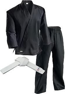 Redox Karate gi, Martial Arts Uniform for Adult, Child for Training, Lightweight/Size 0000~7, Elastic Waistband Pant & White Belt