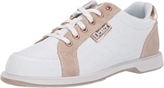 Dexter Womens Groove IV White/Nubuck/Rose Gold Wide Width Bowling Shoes
