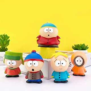 HENGYUAN 5pcs Eric Cartman/Stan Marsh/Kyle Broflovski/Kenny Mccormick/Butters Stotch Figure Set Perfect Collection for Car...