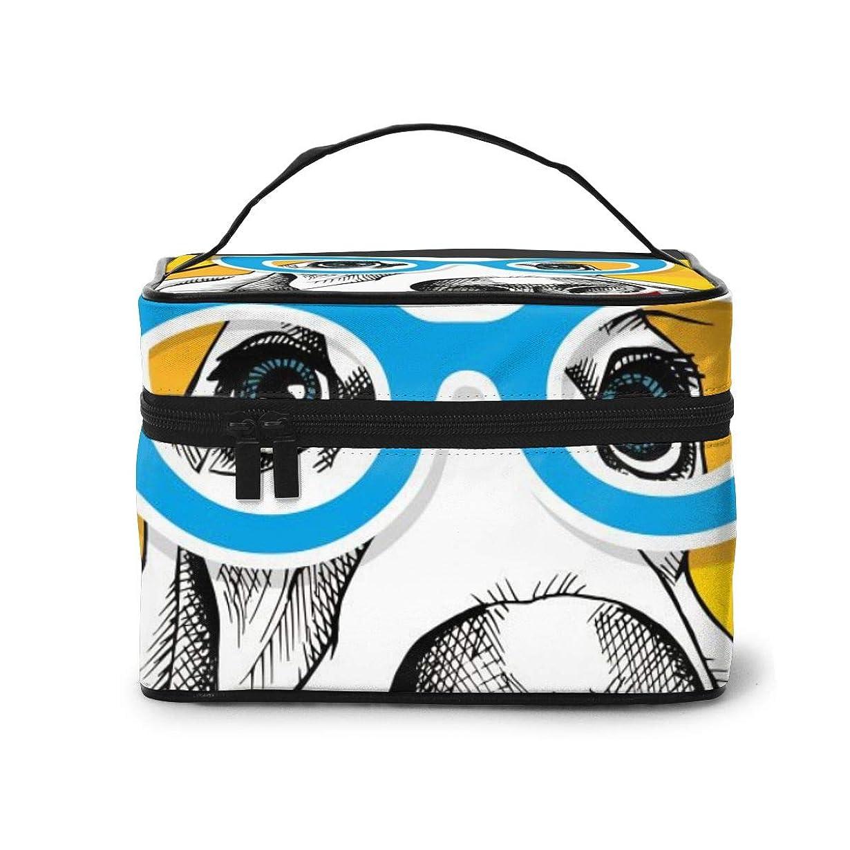 地下室スロベニアラリーベルモントメイクポーチ 化粧ポーチ コスメバッグ バニティケース トラベルポーチ 犬 パーティー 雑貨 小物入れ 出張用 超軽量 機能的 大容量 収納ボックス