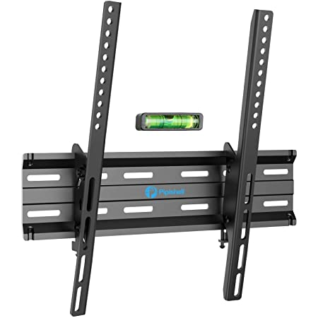 Tilting TV Wall Mount Bracket Low Profile for 26-55 Inch LED, LCD, OLED, 4K Flat Curved Screen TVs, Fits 16 Inch Studs VESA 400x400mm Supports up to 99lbs by Pipishell