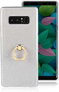 XCYYOO Coque pour Samsung Galaxy Note 8 avec Anneau 2 in 1 Bling Brillants Glitter Paillette Ultra Mince Soft Silicone TPU...