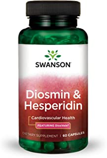 Swanson Diosmin Hesperidin Cardiovascular Support Blood Health Vascular Wall Integrity and Tone Antioxidant Activity Supplement 500 mg Diosmin from DiosVein® 100 mg Hesperidin 60 Capsules
