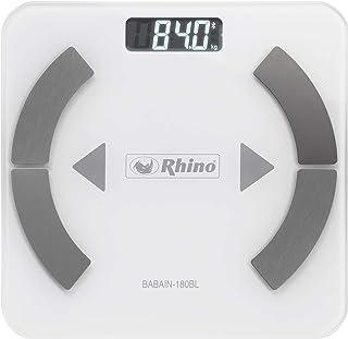 Rhino BABAIN-180 BL Bascula digital con bluetooth para el análisis de grasa corporal, 9 datos analizados, 24 usuarios y mo...