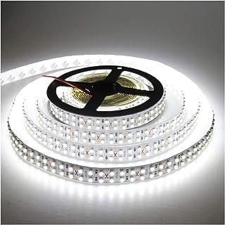 (Cold White Strip) - LEDENET Cold White 5M Double Row 3528 SMD 1200LEDs Flexible Strip Tape Light 240LEDs/M Ribbon Lamp DC...
